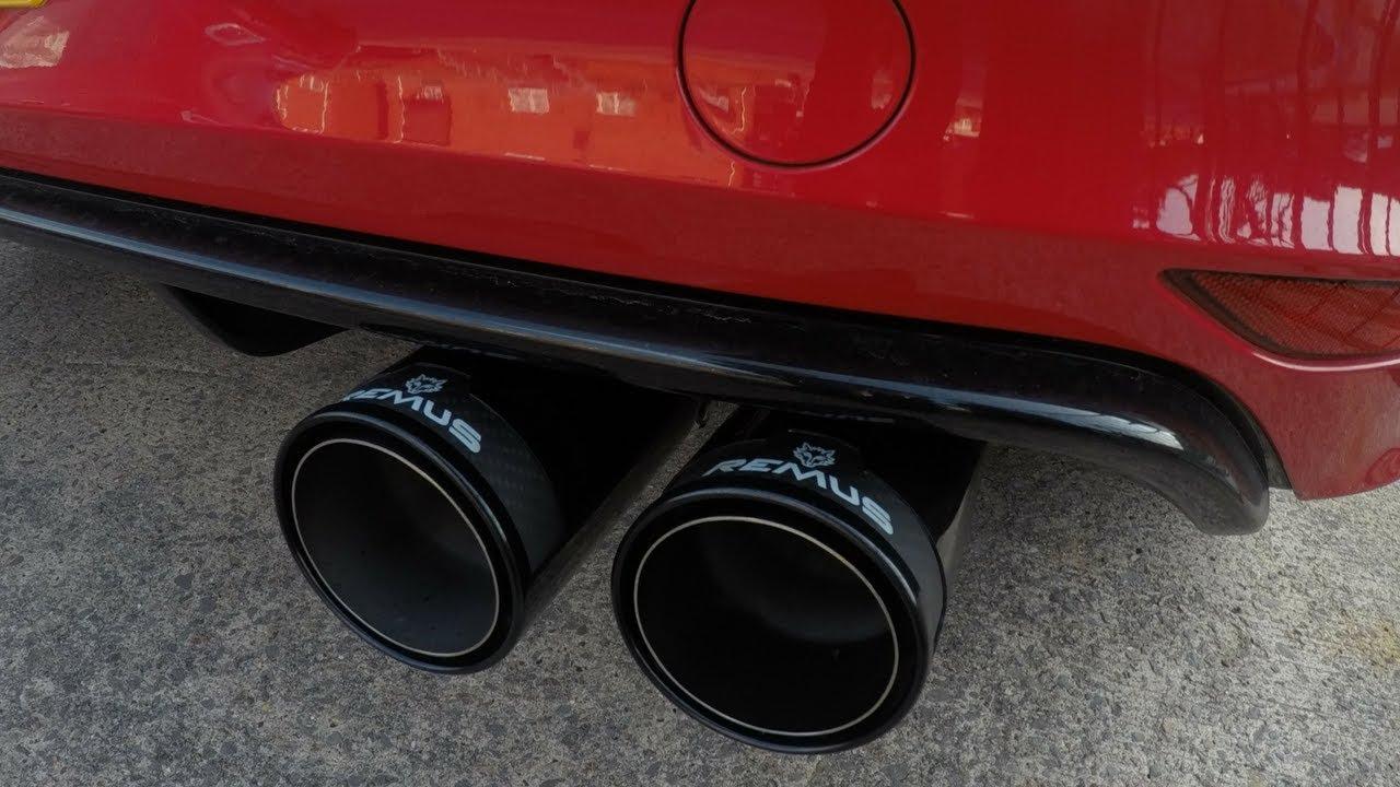 Mk7 Golf R Remus Non Res Catback Exhaust System Sound