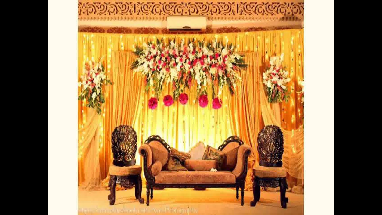 New wedding hall decoration youtube for Hall decoration images