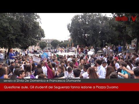 Questione aule. Gli studenti del Seguenza fanno lezione a Piazza Duomo