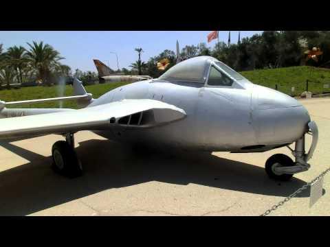 Two De Havilland Vampire Aircraft at IAF Hatzerim Museum