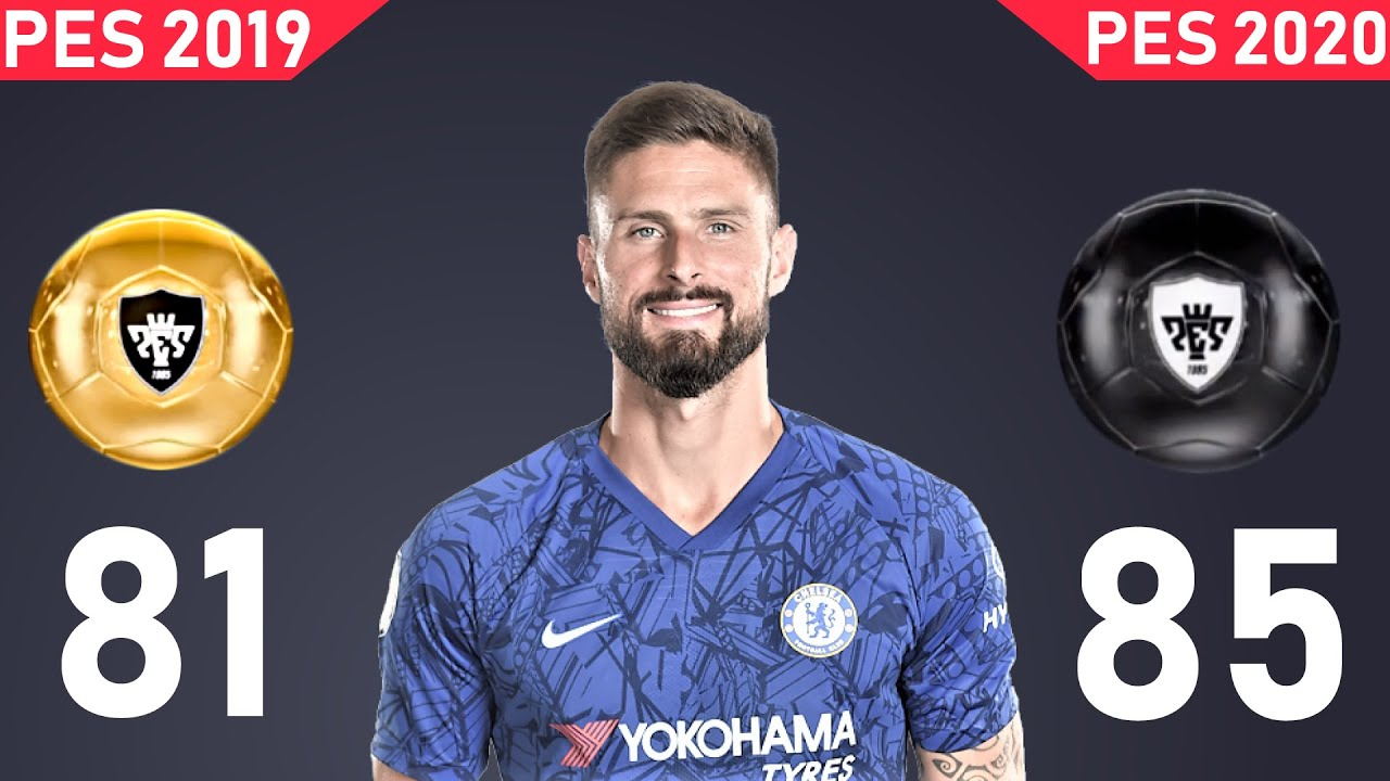 PES 2020 CHELSEA FC PLAYER RATING AND STATS VS PES 2019