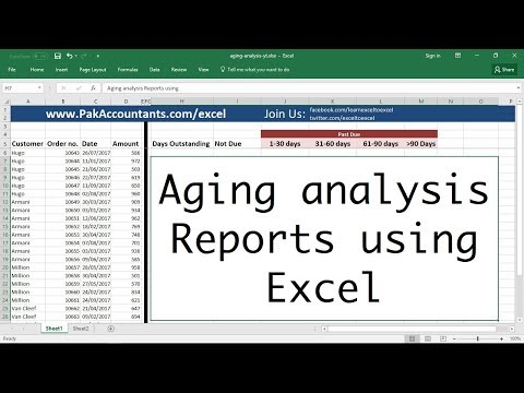 Making Aging Analysis Reports Using Excel - How To