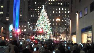 rockefeller center christmas tree lighting 2009