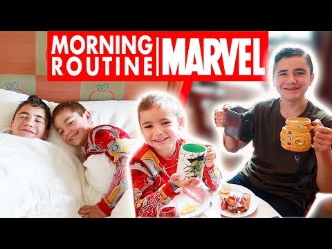 MORNING ROUTINE MARVEL au NEW YORK DISNEY'S HOTEL 🗽