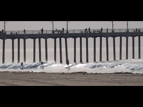 Huntington Beach, CA, Surf, 12/26/2016 (1080p)