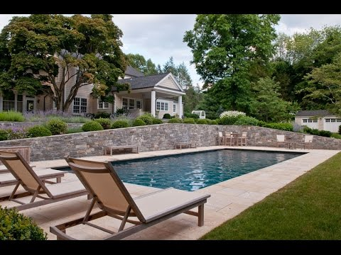 Backyard terrace garden design with swimming pool idea for Allied gardens swimming pool