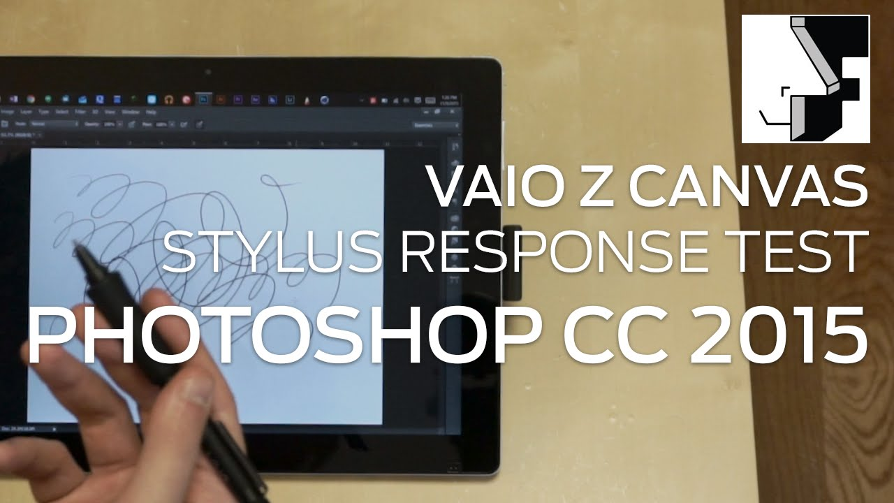 VAIO Z Canvas - Stylus Response Test - Photoshop CC 2015