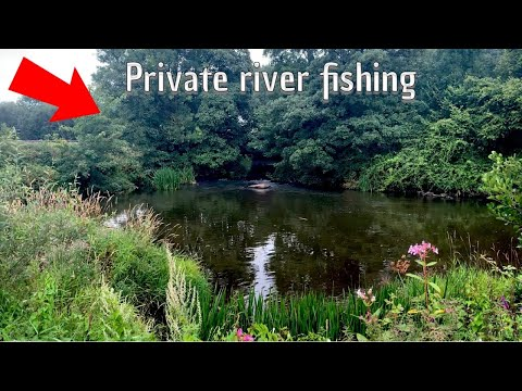 FISHING ON A PRIVATE RIVER ***STUNNING FISH***
