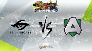 [Dota 2 Live] Team Secret vs Alliance - ESL One Birmingham Europe & CIS - yudijustincase