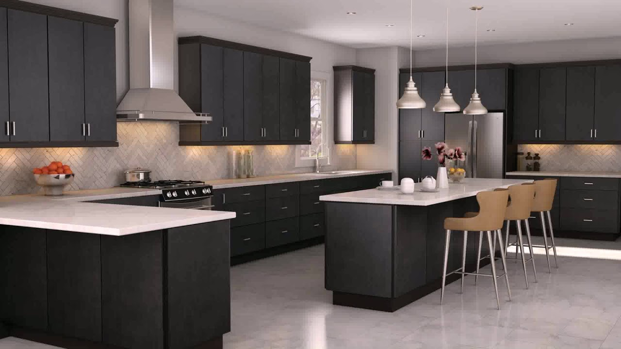White Kitchen Cabinets With Light Gray Countertops Youtube