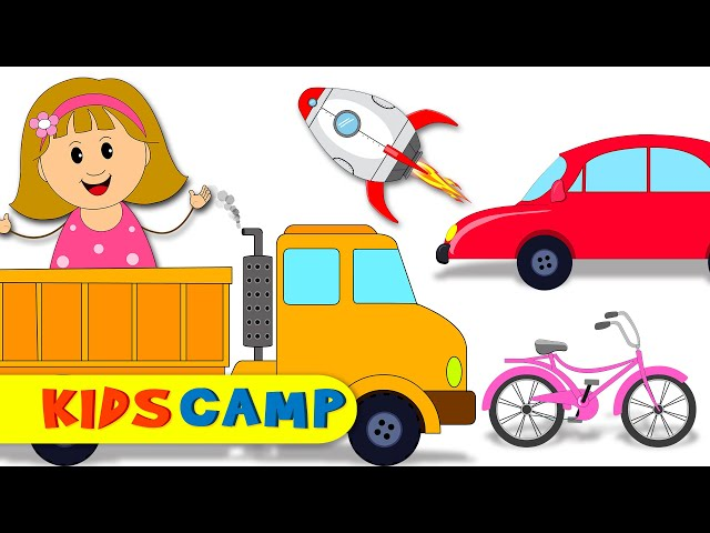 Learn Vehicles With Cute Elly | Car Truck Rocket Bus And More | Play With Elly | Vehicles for Kids