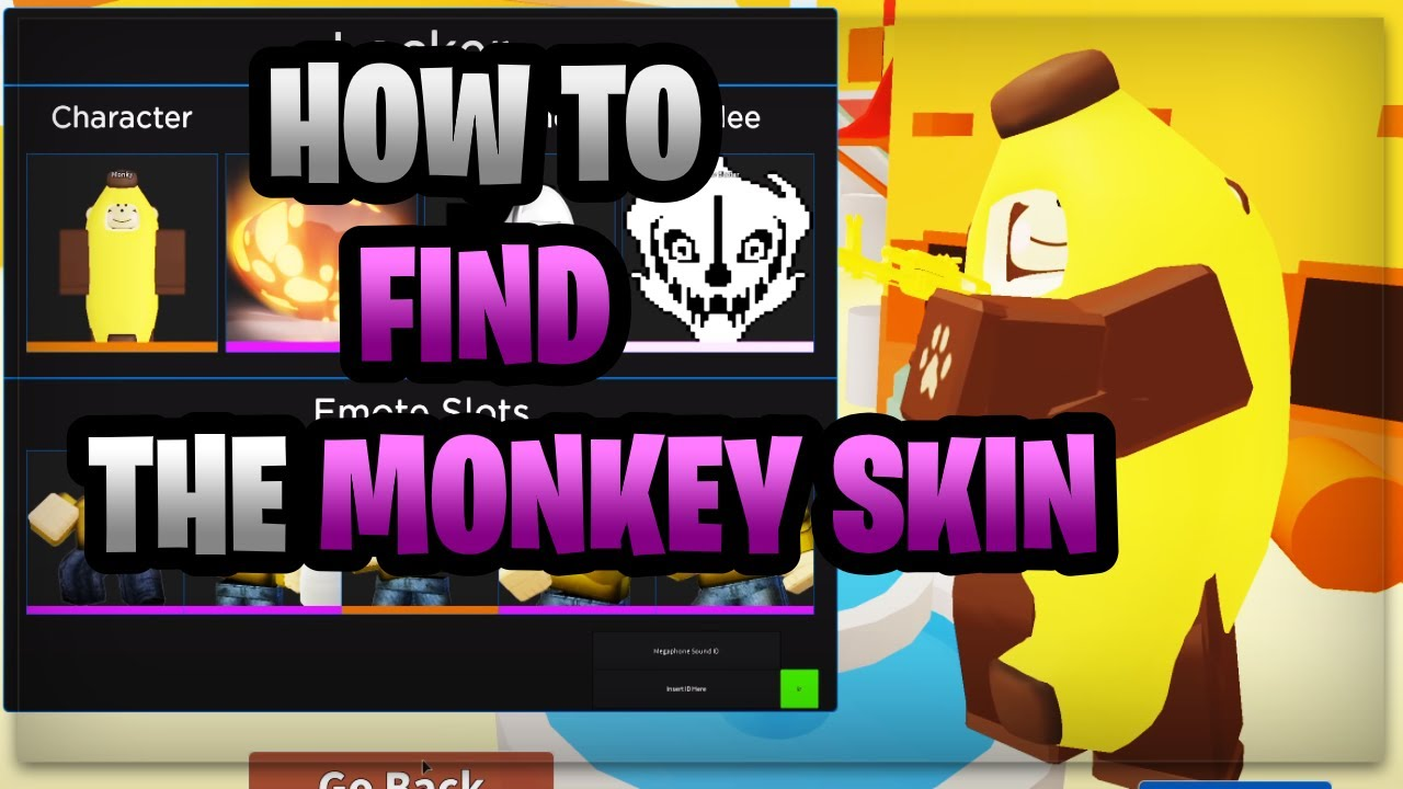secret monkey skin in roblox arsenal