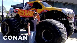 Download Conan Drives Monster Trucks - CONAN on TBS Mp3 and Videos