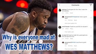 This is why Mavs Fans are so mad at Wes Matthews right now