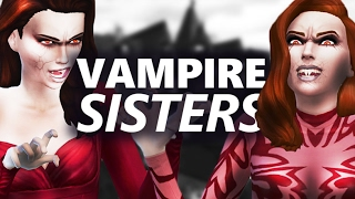 Let's Play The Sims 4 | Vampire Sisters | #2 Learning Vamparism