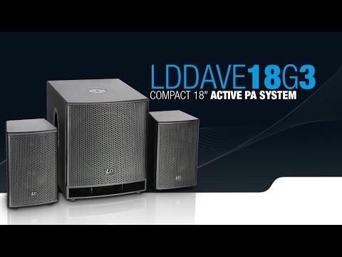 Système de Diffusion Actif LD SYSTEMS DAVE 18 G3 1200W 4800W Crête vidéo