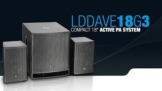 "LD Systems DAVE 18 G3 - Compact 18"" powered PA System"