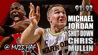 Michael Jordan vs Chris Mullin Highlights vs Warriors (1991.11.20)-53pts Total!MJ SHUT MULLIN DOWN!