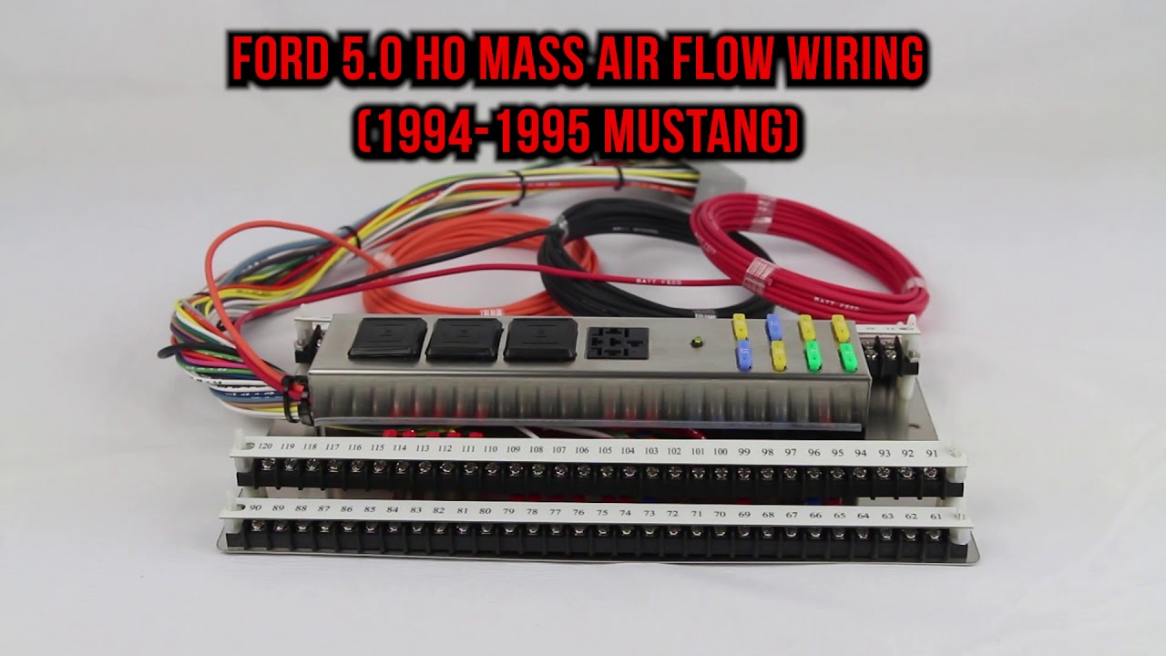 MG-90 1994-95 Mustang 5.0 Telorvek Fuel Injection Wiring Harness on
