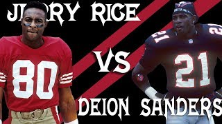 Jerry Rice vs. Deion Sanders Head-to-Head Highlights: The GOAT vs. Prime Time | NFL