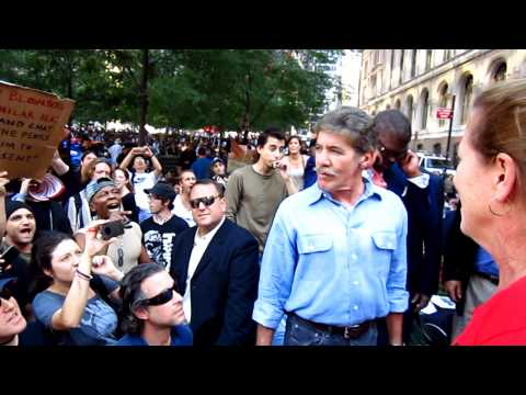 Occupy Wall Street New York City Protestors don't like Geraldo Rivera or Fox News lies