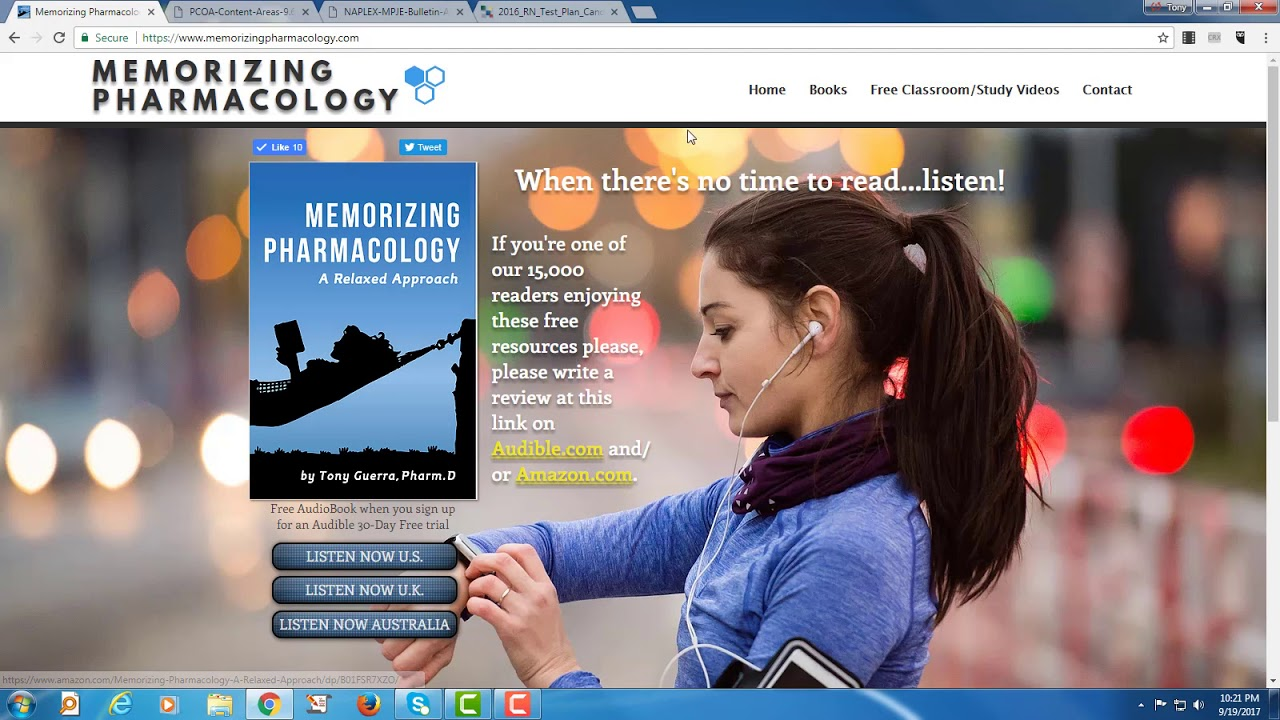 (CC) Memorizing Pharmacology Free Games Videos Teaching and Self-Study Website Introduction