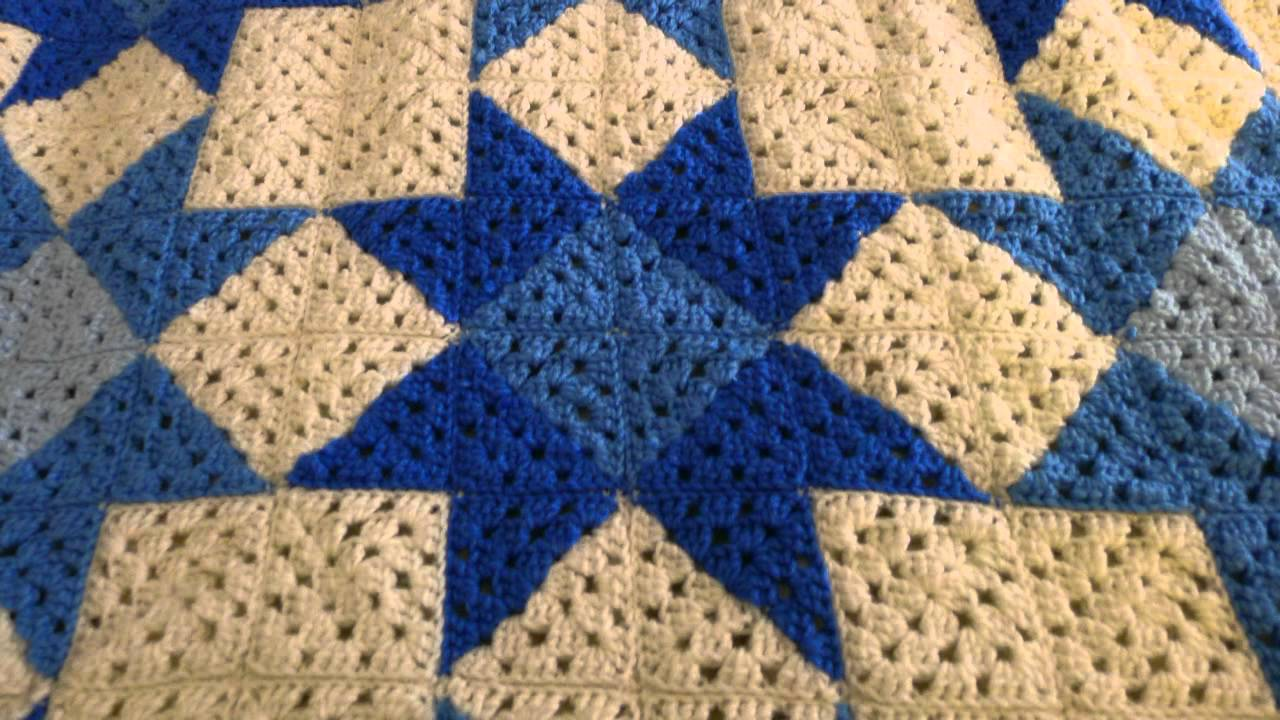 Crochet Quilt : Quilt Star Crochet Blanket - YouTube