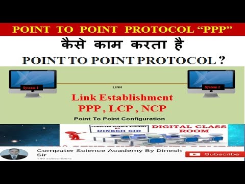 """POINT  TO  POINT  PROTOCOL """"PPP"""" : कैसे काम करता है  POINT TO POINT PROTOCOL ?"""