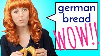 4 Reactions to GERMAN BREAD!!