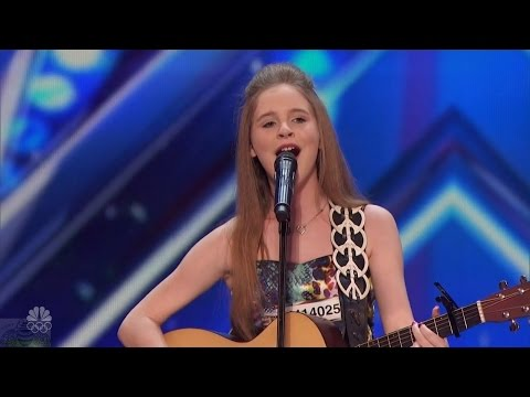 America's Got Talent 2016 Kadie Lynn Roberson 12 Y.O. Country Singer Full Audition Clip S11E03