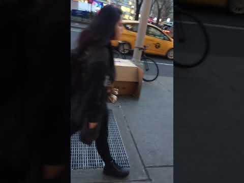 Autistic kid screeching at random people in box