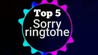 Top 5 Sorry Ringtone Justin Bieber | Remix | IPhone | Marimba | Download Mp3 Ringtones Official