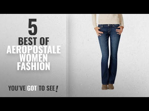 Aeropostale Women Fashion [2018 Best Sellers]: Aeropostale Women's Low-Rise Bootcut Jean 6 R Dark