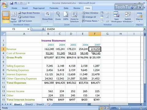 Freeze panes in excel 2007 youtube freeze panes in excel 2007 ccuart Images