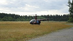 Helikopteritarkastuksella myrskyn jälkeen