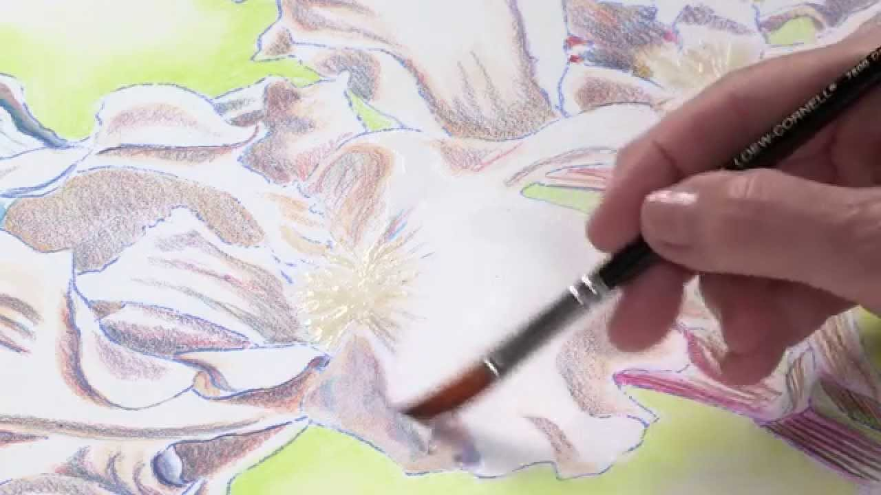 preview watercolor pencil techniques how to paint flowers with