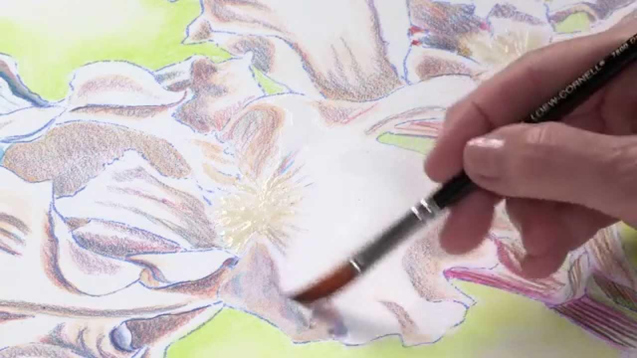 Watercolor Pencil Techniques How To Paint Flowers