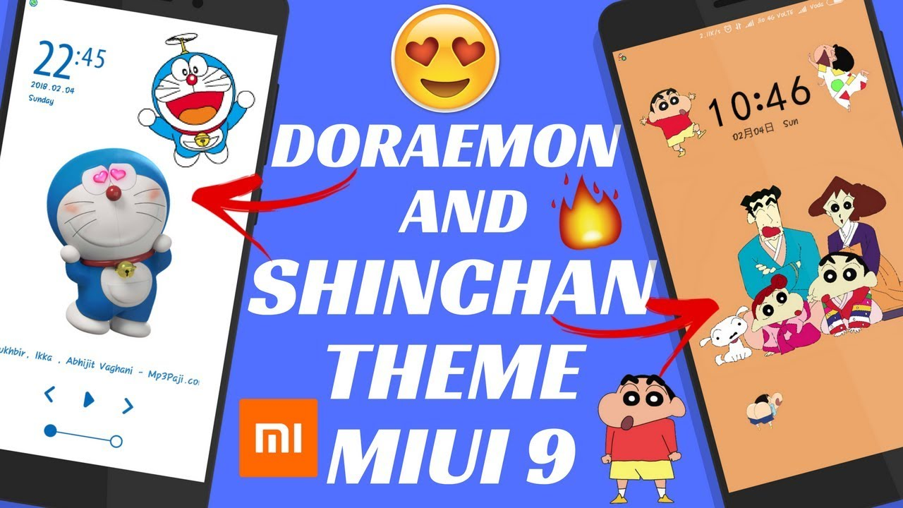 DORAEMON AND SHINCHAN THEME FOR MIUI 9 | SHINCHAN THEME MIUI 9 | DORAEMON  THEME MIUI 9 | BEST THEME