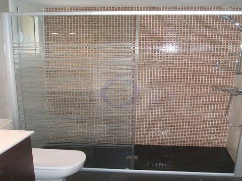 Ducha de obra con mampara de vidrio barata reformasreyes - Como montar mampara de ducha ...