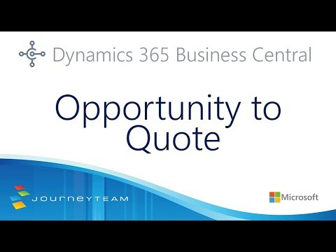 Manage Your Sales Opportunities and Sales Quotes in Microsoft Dynamics 365 Business Central