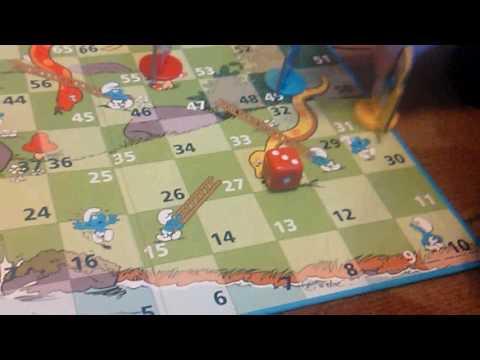 Играем в игру змеи и лестницы 1 часть