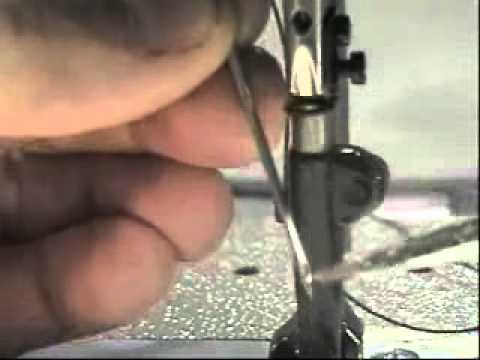 Changing needle on the Consew 206RB - YouTube