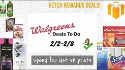 WALGREENS DEALS TO DO 2/2-2/8 🔥 Fetch Rewards Deals | Spend $20 Get 5k points | EASY COUPONING