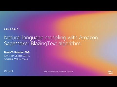AWS re:Invent 2019: Natural language modeling with Amazon SageMaker BlazingText algorithm (AIM375-P)