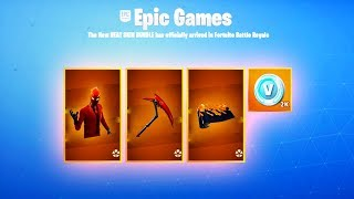 The NEW skin BUNDLE in Fortnite... (How to get the HEAT SKIN BUNDLE in Fortnite Battle Royale)