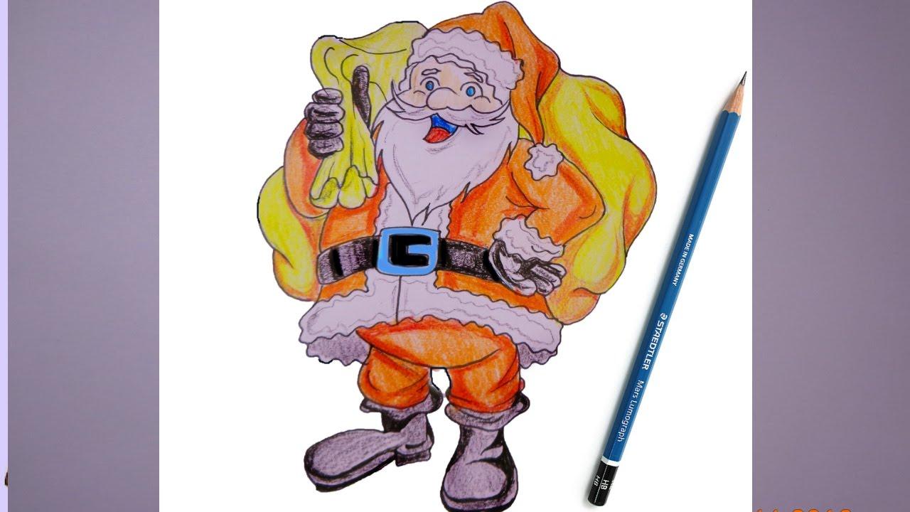 Draw Santa Claus 2016
