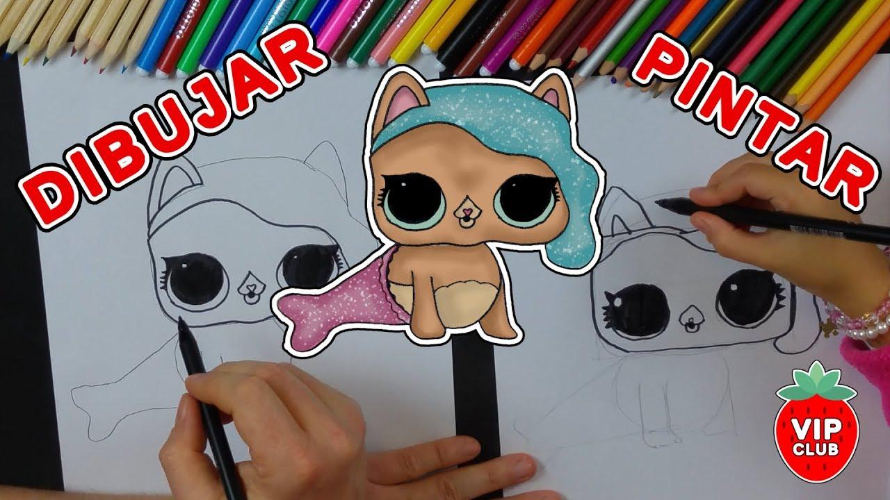 Cómo Dibujar Una Muñeca Lol Surprise Series 3 Pets Mermaid Sirena Videotutorial Diy Hazlo Tú Mismo