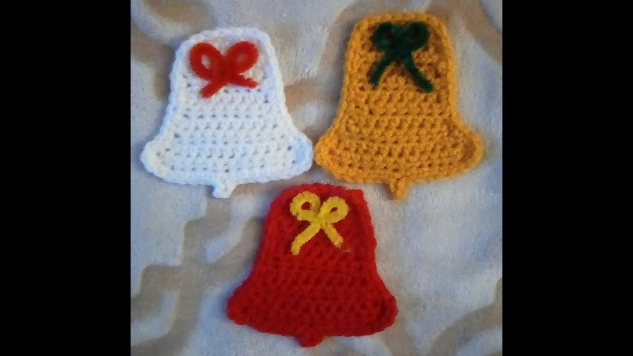 How to Crochet Bell Pattern - YouTube