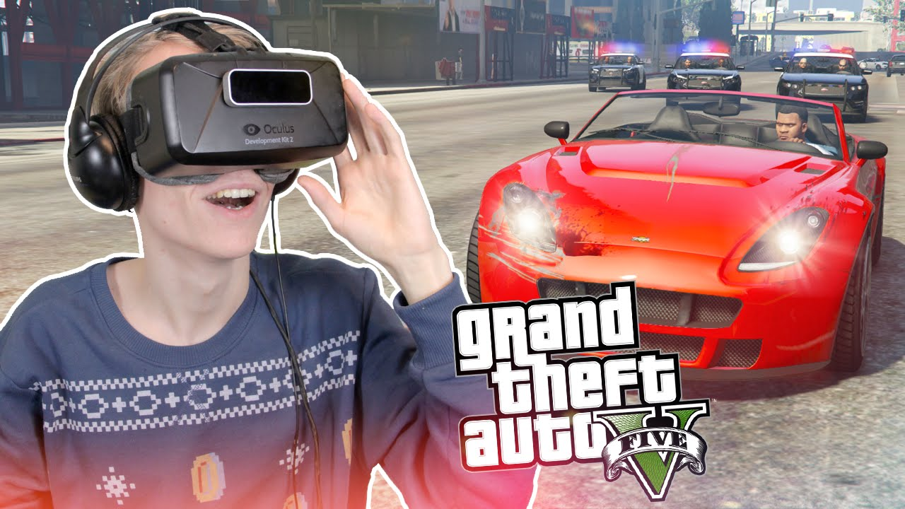 WILD POLICE CHASE IN VR | GTA 5: Single Player (Oculus Rift DK2)