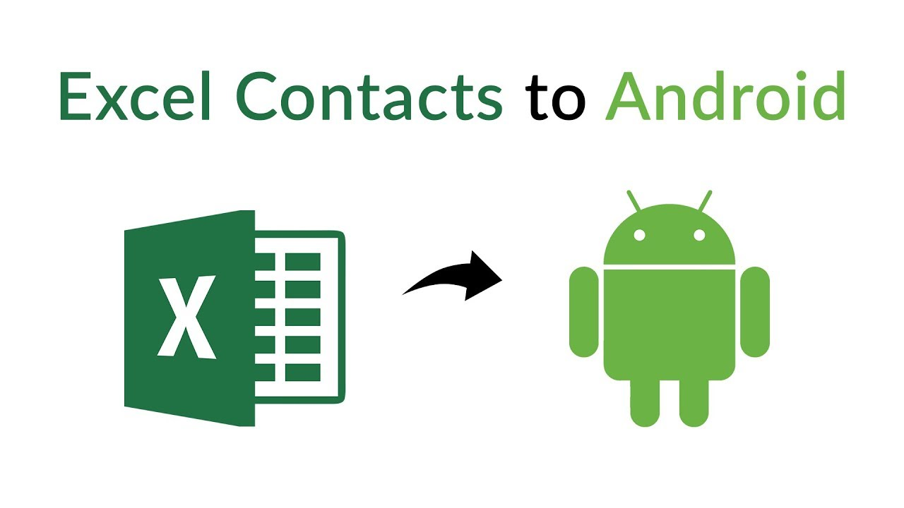 How to Import Contacts from Excel Sheet to Android Phone | Transfer  Contacts from Excel to Android